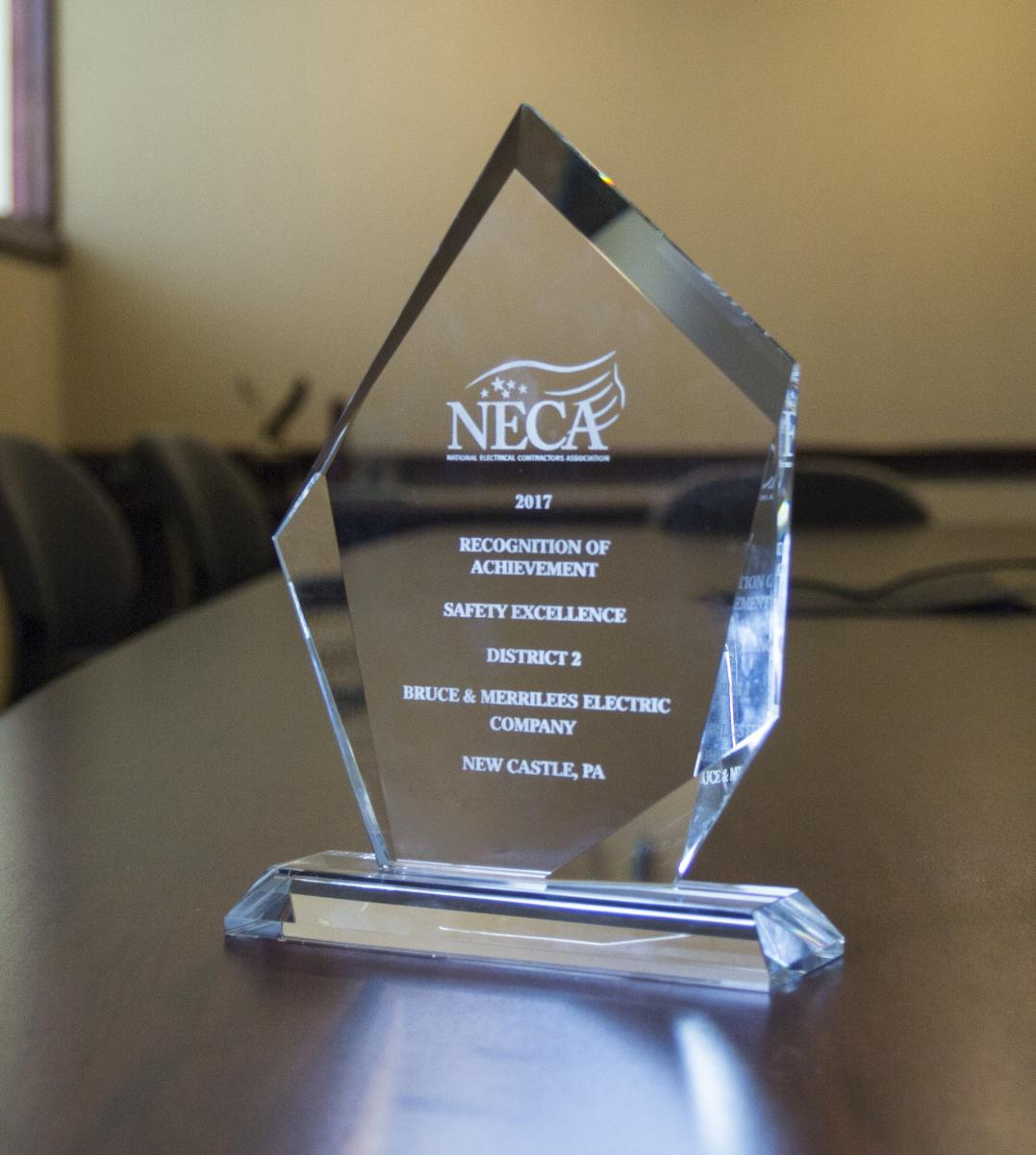 2017 NECA Safety Excellence Award, District 2